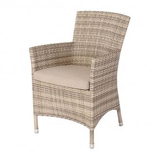 Alexander Rose Ocean Pearl Gartenstuhl mit Sitzkissen