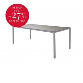 Cane-line Pure Gartentisch mit Aluminiumbeinen   Esstisch Pure 200 × 100 cm