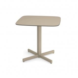 Emu Shine Gartentisch 79 cm konfigurierbar • Outdoor Bistrotisch aus Aluminium / Teakholz / HPL