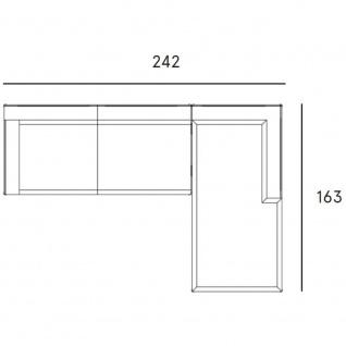 Fast New Joint Lounge-Sofa-Garnitur 242 cm: 1 x Recamiere und 1 x 2-Sitzer-Sofa mit Armlehne rechts