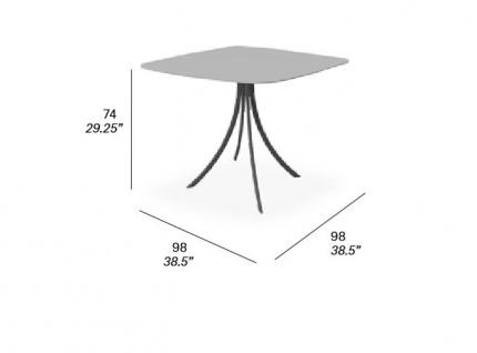 Expormim Bistro Gartentisch mit elliptischer Platte 90 oder 98 cm