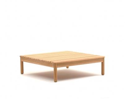 Varaschin Bali Loungetisch 90 × 90 cm (Base) mit Teakholzgestell