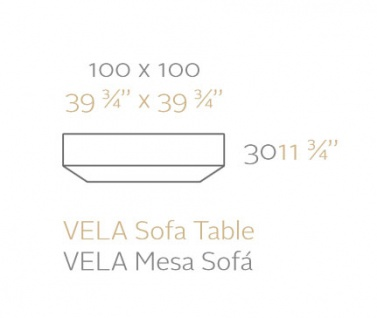 Vondom Vela Sofatisch 100 cm - Vorschau 2