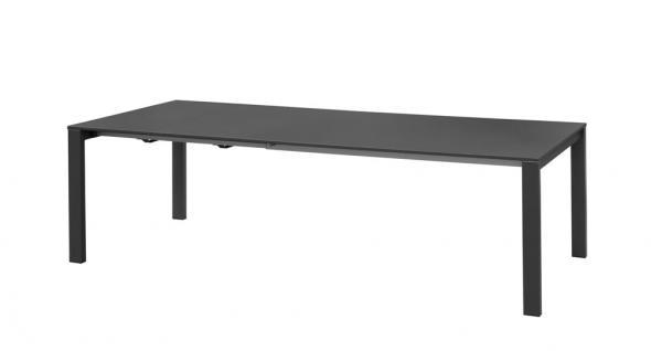 Emu Round Gartentisch mit Stahlgestell und Metall Tischplatte, ausziehbar 160-268 cm