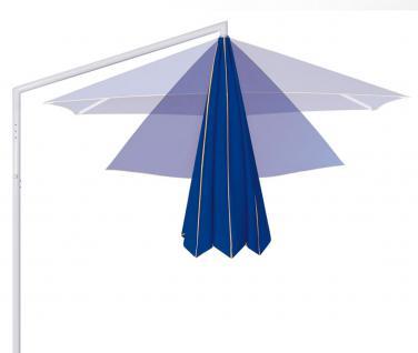 Sonnenschirm Rialto Dual von May, sechseckig 400 cm, Typ RG mit Kurbelantrieb, mit Volant - Vorschau 5