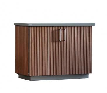 Herrenhaus Cubic Sideboard mit Holzlamellenverkleidung (verschiedene Größen)