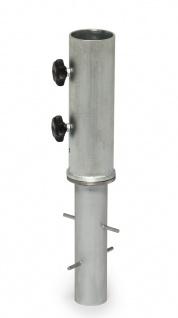Weishäupl Bodenhülse Ø 40 mm zum Einbetonieren für Aluschirm 270 und Pagodenschirm