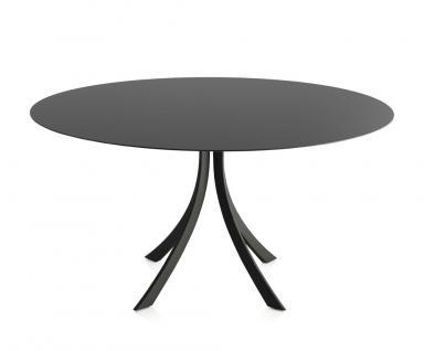 Expormim Falcata Gartentisch mit HPL Tischplatte, rund oder quadratisch 140 cm