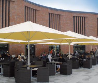 Sonnenschirm Schattello von May, quadratisch 350 x 350 cm, ohne Volant - Vorschau 2
