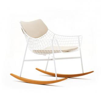 Varaschin Summer Set Schaukelstuhl inkl. Sitz- und Rückenkissen • Loungesessel 74 cm