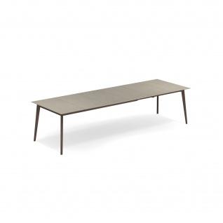 Emu Kira Esstisch 200/300 x 100 cm • Aluminium / Feinsteinzeugfliesen • ausziehbar