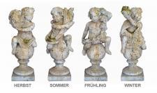 French Pottery Statue Putti 4 Jahreszeiten aus Stein 102 cm