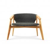 Ethimo Knit Lounge Sessel Mahagoni oder Teakholz