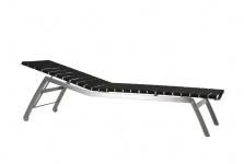 Todus Alcedo Lounge Sonnenliege, verstellbar, elastische Bänder