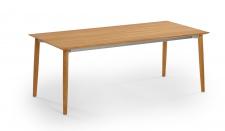 Weishäupl Slope Gartentisch mit Teakholzgestell • Outdoor Esstisch 200 × 90 cm