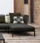 B&B Italia Ravel modulierbares Sofa, Chaise Longue Element rechts