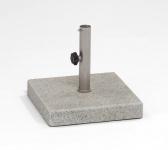 Weishäupl Schirmständer aus Granit, 125 kg, quadratisch, geflammt