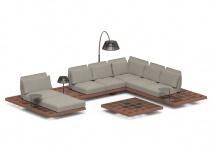 Royal Botania Lounge Set Mozaix 05 Mahagoni inkl. Kissenset Kategorie B