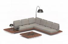 Royal Botania Lounge Set Mozaix 01 Mahagoni inkl. Kissenset Kategorie B