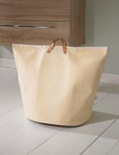 Wäschesammler Wäschetaschen aus Gummi beige breit Wäschebeutel Wäschesack Wäschekorb Multifunktionstasche