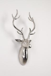 Deko Geweih Harry Silber Hirschkopf Hirschgeweih Hirschkopf Geweih Figur Skulptur Deko
