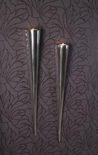 Fackelleuchte XL 2er SET aus Aluminium Teelichthalter Kerzenhalter Kerzenleuchter Gastgeschenke - Vorschau 4