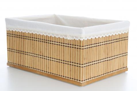 Ordnungsboxen Bambus Natur 2er SET Sally - Vorschau 2