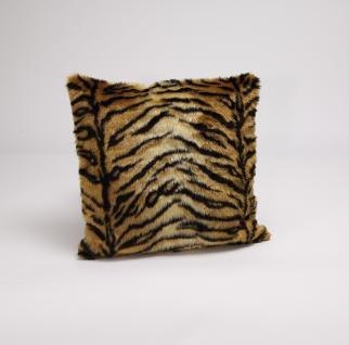 Kissen-Bezüge `Tiger` in Fellimitat 50x50 Artra Quadratisch mit Reißverschluss Kissenhülle Kissen Hüllen Hülle Bezüge Bezug Deko Zier Sofakissen Dekokissen