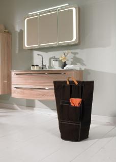Wäschesammler Wäschetaschen mit Utensilienfächern Braun Wäschebeutel Wäschesack Wäschekorb Multifunktionstasche