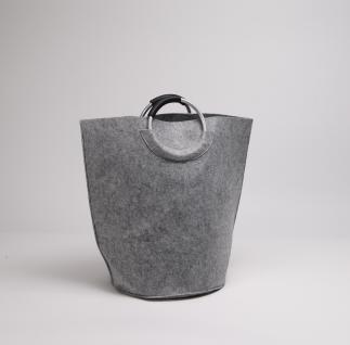 Filztasche grau , Wäschesammler Wäschetaschen Wäschesack Wäschebox Multifunktionstasche