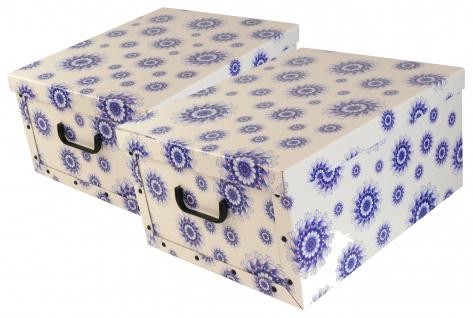 "Ordnungsboxen Box Clip ""Mandala Blumen Blau"" Aufbewahrungsbox"
