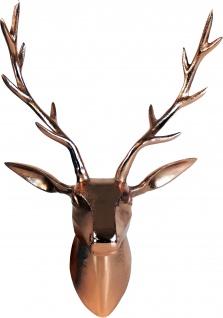 Deko Geweih Hirschkopf Aluminium poliert Wandfigur Wanddeko Hirschgeweih Hirschkopf Geweih Figur Skulptur Deko Weihnachten Weihnachten Deko Dekoration Weihnachtsdeko