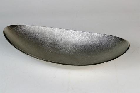 """Aluminium Schale """"Julia"""" (Größe: M) in Silber oval Tischdekoration Hochzeitdekoration Artra Dekoschüssel Deko Dekoschale Dekoration Geschenk"""