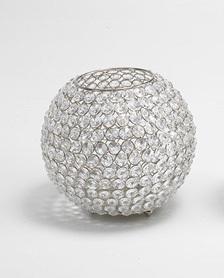 Kristall Kerzenständer Kugel Big 21cm Teelichthalter Kerzenhalter Kerzenleuchter Tischdeko Gastgeschenke silber