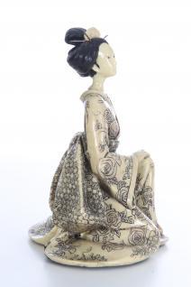 Dekofigur Geisha Kleid Creme B
