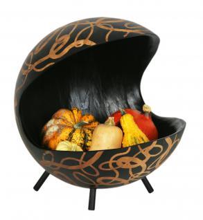 Mango-Holz-Schale mit drei Füßen.