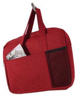 Filztasche ROT ''Ela'' Handtasche Messenger Notebooktasche