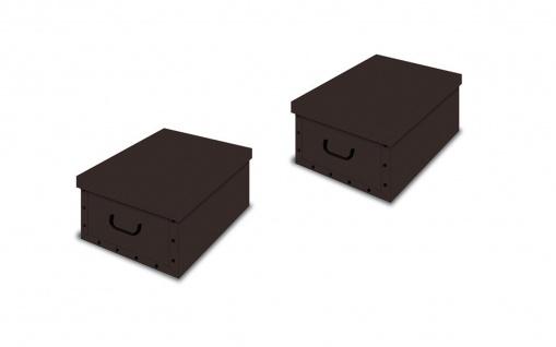 Ordnungsboxen Deko Karton 2er SET Box Clip Marrone braun Aufbewahrungsbox für Haushalt Büro Wäsche Geschenkbox Dekokarton Sammelbox Mehrzweckbox Ordnungskarton Ordnungsbox Geschenkekarton