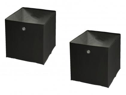 """Ordnungsboxen """"Fabio"""" Schwarz 2er SET Aufbewahrungsbox Lack"""