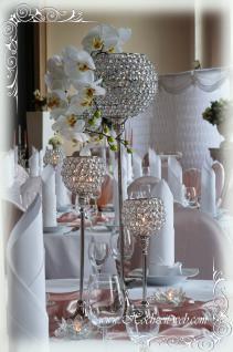Kristall Kerzenständerr Marie L 2er SET Teelichthalter Kerzenhalter Kerzenleuchter Tischdeko Gastgeschenke silber Weihnachten Weihnachten Deko Dekoration - Vorschau 5