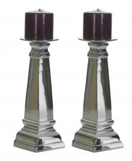 Aluminium Kerzenständer 2er Set Block L Teelichthalter Kerzenhalter Kerzenleuchter Tischdeko Gastgeschenke Weihnachten Weihnachten Deko Dekoration Weihnachtsdeko