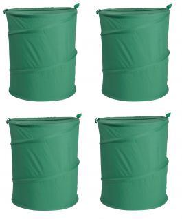 Wäschesack Wäschesammler Jumping Jack 4er SET Wäschetaschen Wäschebox Multifunktionstasche grün