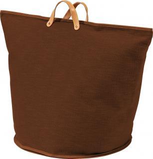 Wäschesammler Wäschetaschen Baumwolle braun breit Wäschebeutel Wäschesack Wäschekorb Multifunktionstasche