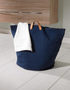 Wäschesammler Wäschetaschen Baumwolle blau breit Wäschebeutel Wäschesack Wäschekorb Multifunktionstasche