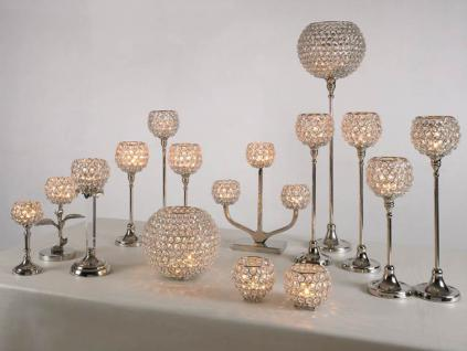 Kristall Kerzenständer Marie M Teelichthalter Kerzenhalter Kerzenleuchter Tischdeko Gastgeschenke silber - Vorschau 4