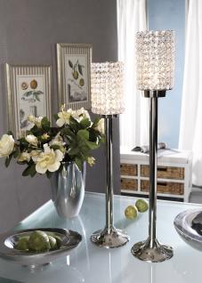 Kristall Crystallights Kerzenständer Vivian L Teelichthalter Kerzenhalter Kerzenleuchter Tischdeko Gastgeschenke silber