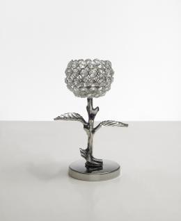 Kristall Kerzenständer Teelichthalter Leaves Teelichthalter Kerzenhalter Bling Bling Tischdeko Gastgeschenke silber Weihnachten Weihnachten Deko Dekoration
