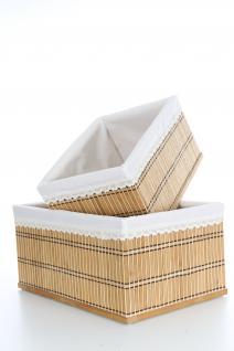 Ordnungsboxen Bambus Natur 2er SET Sally