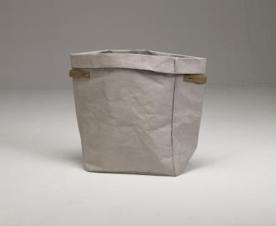 Wäschesammler Kraftpapier/ Vegan grau