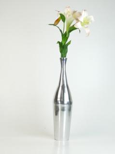 """Aluminiumvase """"Bottle"""" M - Hoch, Dekoration, Blumenvase und Tischvase"""